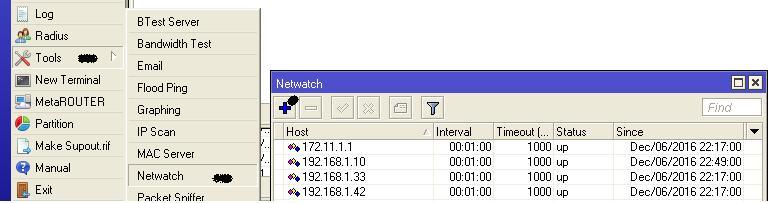 Membuat Info pemberitahuan client up atau down di mikrotik